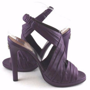 NEW! Reberto Cavalli Purple Leather Sandal